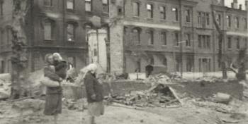 В войну здание было разрушено...