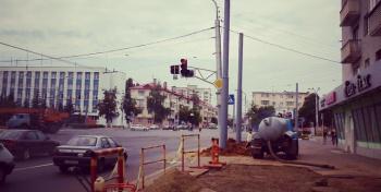Проспект Фрунзе спешно ремонтируют
