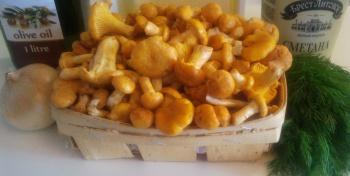 Лисички с картофелем