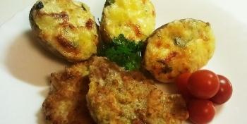Запеченный картофель с сыром и/или грибами